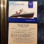 United States Lines: SS United States Log Card Voyage 162