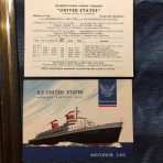 United States Lines: SS United States Log Card Voyage 331 West Bound