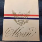 United States Lines: SS United States Gala Dinner menu dated November 2 1966.