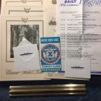 United States Lines: SS United States 331 Westbound voyage items