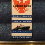 United States Lines: SS United States Cabin Deck Plan Dated March 1957