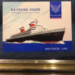 United States Lines: SS United States Souvenir Log 308W