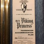 Flagship Line: MS Viking Princess glossy paper Deck Plan 12/1964