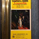 Cruise and Tours Everywhere Steamship Schedules September 15 1973