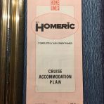 Home Lines: MV Homeric 11/85 2 sided Deck Plan