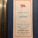 Bergen Line: MS Meteor Deck Plan 1961