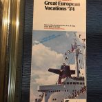 French Line: Great European Vacations 1974 folder