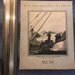 French Line: Ile De France 3rd class Menu 1927
