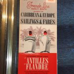 French Line: SS Antilles & Flandre Sisters of the Caribbean Cruises Folder #2