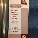 French Line: Passage Rates folder dated September 1952