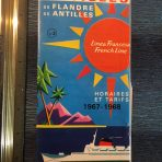 French Line: Flandre and Antilles 67-68  Rates folder