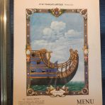 French Line: Normandie Tourist Dinner Menu dated July 31st 1938