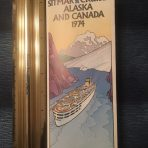 Sitmar: Alaskan Cruises and Canada 1974 folder brochure w/ deck plans