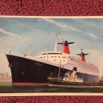French Line: SS France Modern Postcard