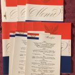 United States Lines: April 1956 Menu set