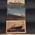 United States Lines: 3 SSUS Postcards