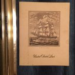 United States Lines: SS United States blank Mini Etching Menu
