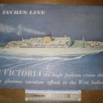 Incres Line: MV Victoria counter card # 1