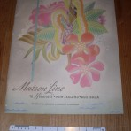 "Matson Line: ""prewar"" brochure and 1941 rate/ sailing schedule."