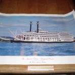Delta Queen Steamboat Company: American Queen Inaugural season poster 1995