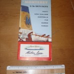Matson Line: SS Monterey/Mariposa Room plan.