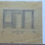 French Line: SS Paris Original Interior Architectural Terrace Vestibule  Rendering