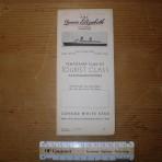 Cunard Line: QE 1946 Temporary Deckplan MM17