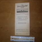Cunard Line: QE 1946 CC deckplan MM17