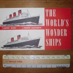 Cunard Line: QE/ QM mini Wonder ships booklet: Restocked!