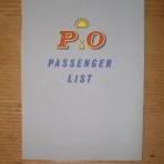 P&O SS Canton Passenger list
