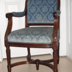 Cunard Line and Hapag! Berengaria/ Imperator Dining room chair with arms.