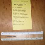 United States Lines: SS United States Bridge scorecard