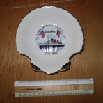 Cunard Line: Hotel Queen Mary souvenir shell dish