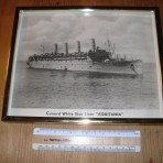 Cunard Line: Aquitania WW2 framed photo