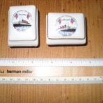 Cunard Line: Hotel Queen Mary porcelain souvenir box set. MM17