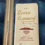 Cunard Line: Queen Elizabeth Full color deck plan