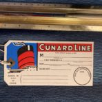 Cunard Line: 50's Baggage Tag