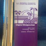 Oriental Overseas Lines: MV Oriental Carnaval Plans, General info, and Tarrifs fold out