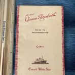 Cunard Line: QE guide to accommodation booklet : Cabin Class