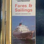 Union Castle: 1970 fares an sailings