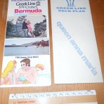 Greek Line: Queen Anna Maria 1974 cruise leaflet and deckplan