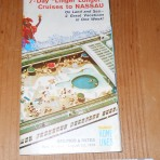 """Home Lines: SS Oceanic 1975 """"Linger Longer"""" cruise deckplan folder."""