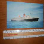 Cunard line: Queen Elizabeth Dixon postcard