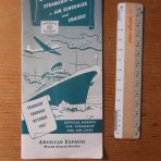 Americian Express: Sailing schedules for Feb-Oct 1957