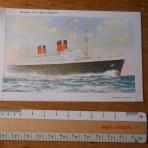 Cunard Line: Queen Elizabeth Letter Card