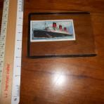 Cunard line: Queen Mary Churchman cigs collector card: