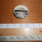 Cunard Line: Mauretania 2 Celluloid pin