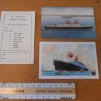 United States Lines:  SS America Three Ephemera Items