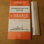 Royal Dutch / Nederland Line:  MS Oranje deckplan