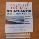 American Export Lines: NEW SS Atlantic Deckplan Restocked